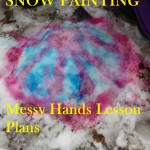 http://messyhandslessonplans.com/ Snow Painting